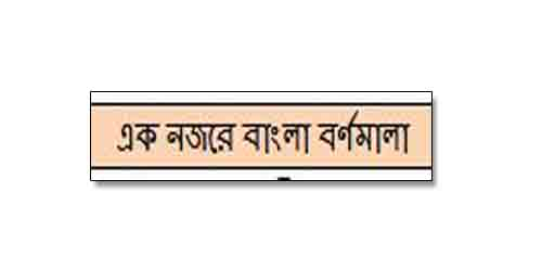 Bangla Bornomala - এক নজরে বাংলা বর্ণমালা