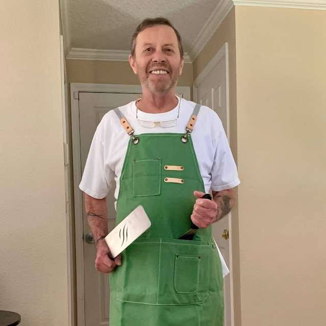 dad in his grilling apron