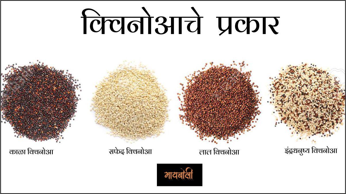 Types Of Quinoa In Marathi