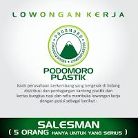 Lowongan Kerja di UD. Podomoro Plastik Gresik Jawa Timur Februari 2021