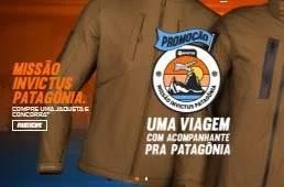 Promoção Missão Invictus Jaquetas Concorra Viagem Patagônia