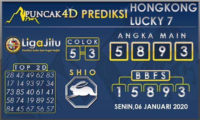PREDIKSI TOGEL HONGKONG LUCKY7 PUNCAK4D 06 JANUARI 2020