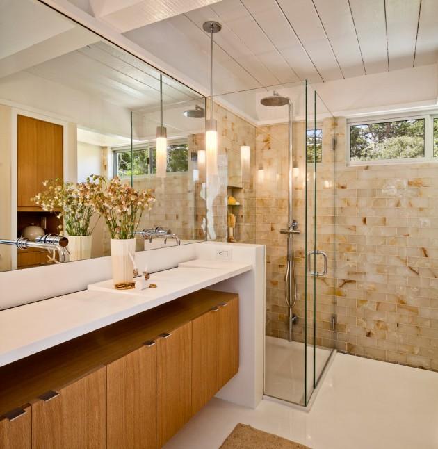Construindo Minha Casa Clean Tipos de Box de Vidros  Inspirese em 50 Model -> Banheiros Modernos Pastilhados