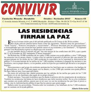 Imagen del boletín de la Fundación Miranda