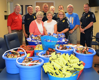 Lakeside Baptist Church Donation of Snacks ot NMB Dept of Public Safety
