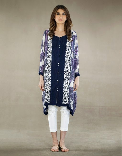 Ayesha Hashwani Winter Dresses Designs 2014-2015 fashionwearstyle.com