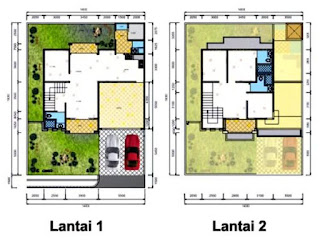 denah rumah minimalis 2 lantai 4 kamar tidur