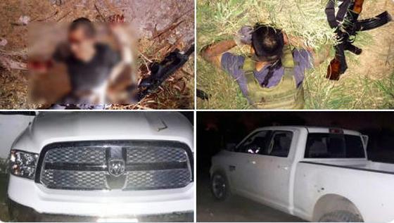 Tiroteos en Reynosa, Sicarios atacan a Policías, huyen y son abatidos 2 pistoleros
