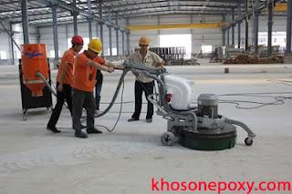 xử lý bề mặt khi thi công sơn epoxy
