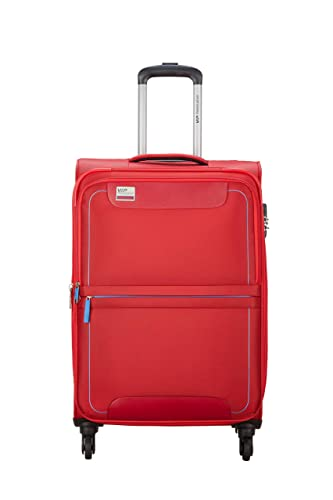 VIP Pisa Polyester 54 cms Red Softsided Cabin Luggage with Anti-theft Zipper At Rs.2299