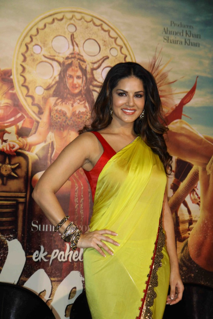 Actress Sunny Leone Photo Gallery In Yellow Saree