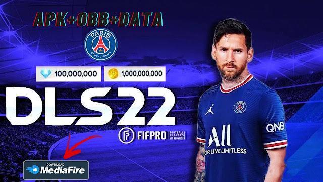 Download DLS 22 APK OBB Data Messi to PSG Kits 2022