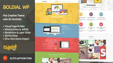 Boldial WP v2.3 Flat Creative WordPress Theme with 3D Portfolio