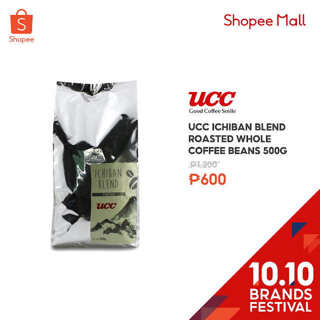 UCC Ichiban Blend Roasted Whole Coffee Beans 500g at 50% Off on Shopee's 10.10 Brands Festival