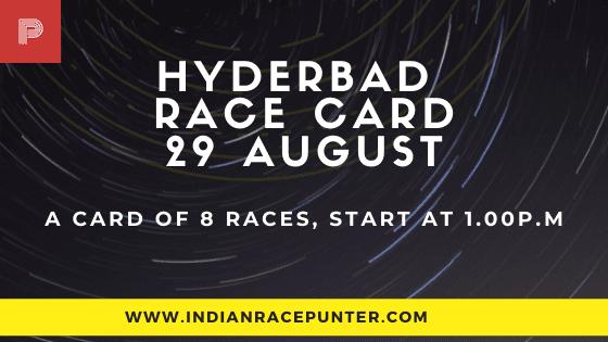 Hyderabad Race Card 29 August