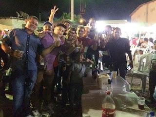 Olivânio e correligionários participam das festas juninas no bairro São José em Picuí