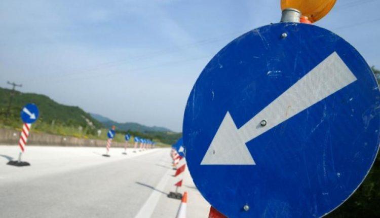 Εργασίες οριζόντιας σήμανσης στην 16η Εθνική Οδό  Θεσσαλονίκης-Πολυγύρου  από την Περιφέρεια Κεντρικής Μακεδονίας