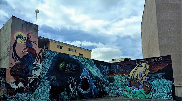 Hobart Street Art   Mural by Chooka, Aedan Howlett, Seven, Odi, Lukan Smith