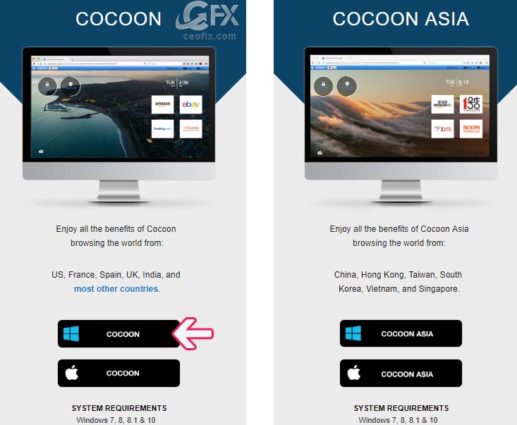 Cocoon Tarayıcı indir - www.ceofix.com
