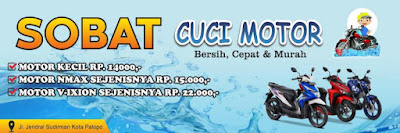 Download Spanduk Cuci Motor Format CDR