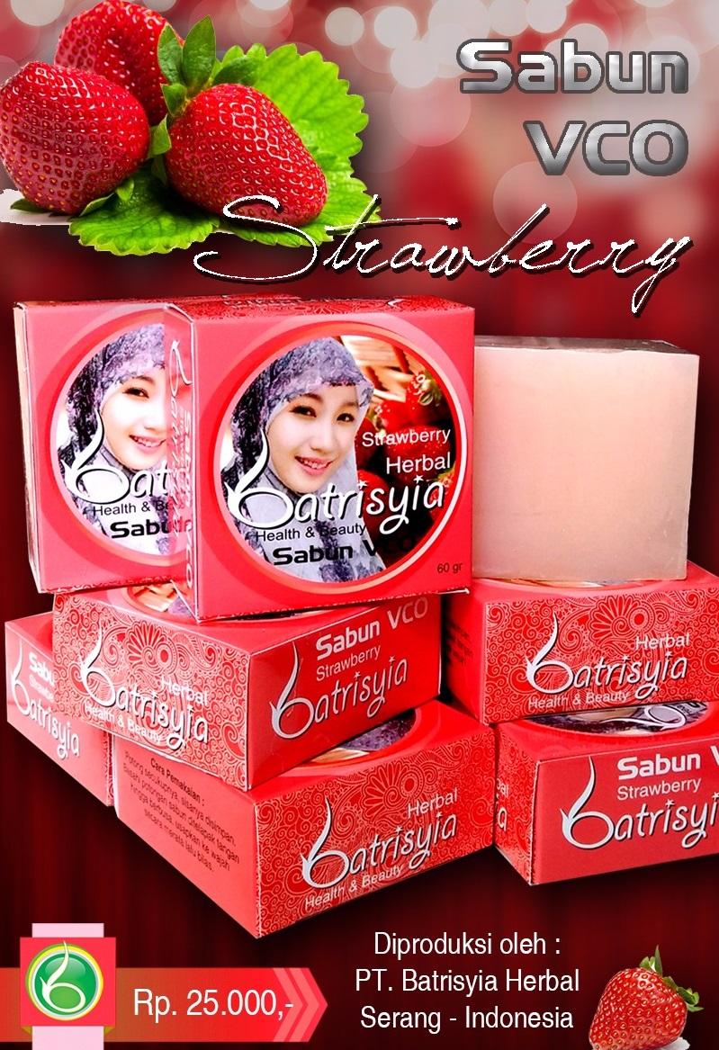 Batrisyia Sabun Batang Vco Strawberry Mengurangi Kadar Minyak Kecantikan Herbal Tashiru Gliserin Lye Zaitun Jelly Tripang Laut Biji Anggur