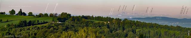 Panorama z widokiem na Tatry Wysokie z Braciejowej (Południk) wys. 450 m