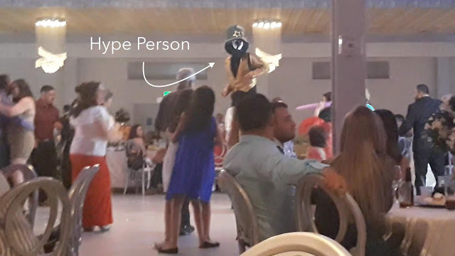 Hype Person on dance floor