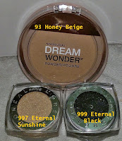 LOreal infallible eyeshadow eternal sunshine black swatches review