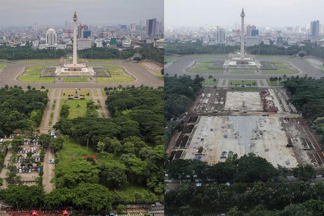 Ini Respon Ketua DPRD DKI Jakarta Saat Tinjau Revitalisasi Kawasan Monas