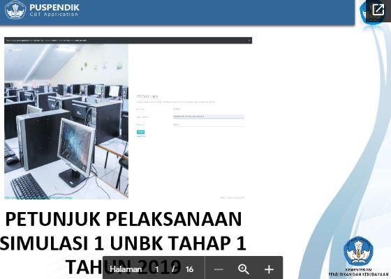 Petunjuk Pelaksanaan Simulasi 1 UNBK 2020