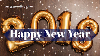 Greetings Live 2018 golden Texture 3D font