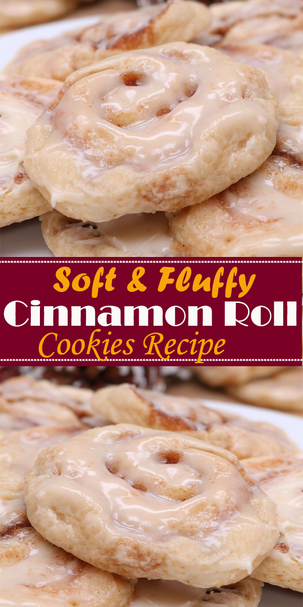 Soft & Fluffy Cinnamon Roll Cookies Recipe #Soft&Fluffy #Cinnamon #Roll #Cookies #Recipe #Soft&FluffyCinnamonRollCookiesRecipe