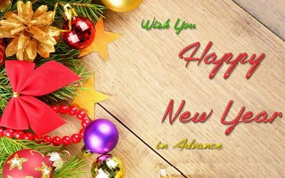 Wish you a Happy New Year 2020