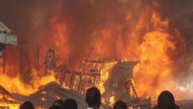 House on fire at Kakamega