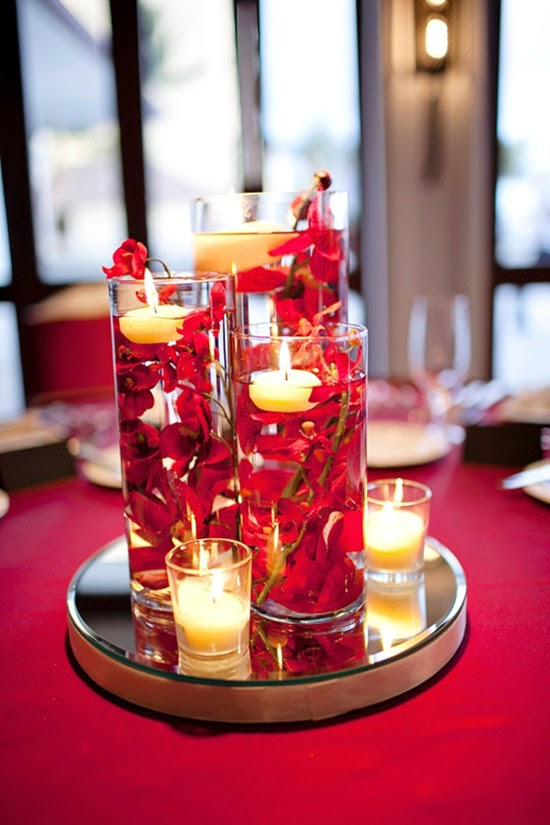 Wedding ideas blog lisawola how to diy simple wedding - Red centerpieces for tables ...