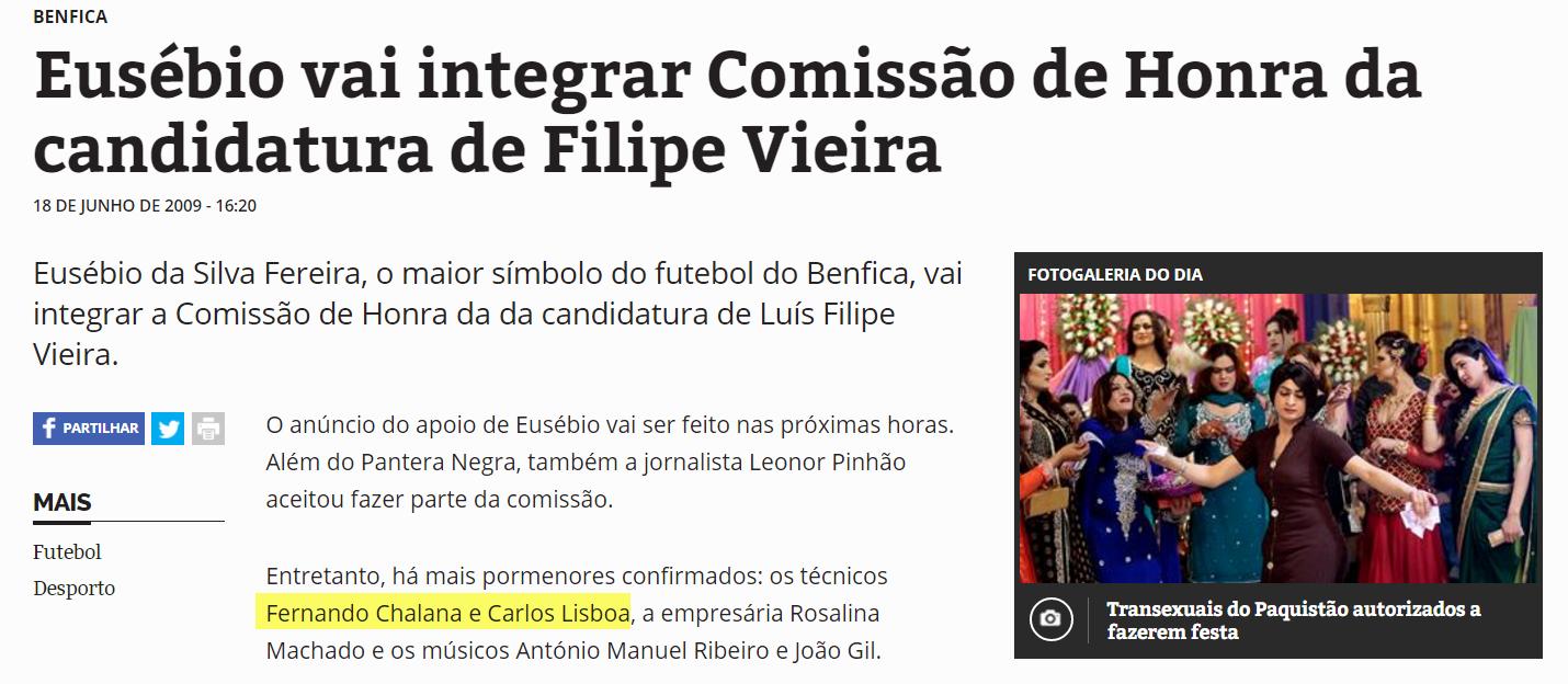 5e22d8bae6 Como é possível uma vergonha destas  Treinadores a fazerem parte da  comissão de honra de Luís Filipe Vieira nas eleições de 2009 contra Bruno  Carvalho!