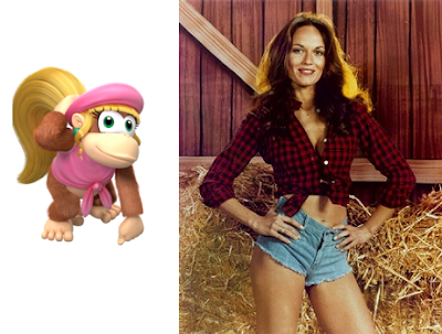 Daisy Duke of Dukes of Hazzard and Dixie Kong of Donkey Kong Country 2