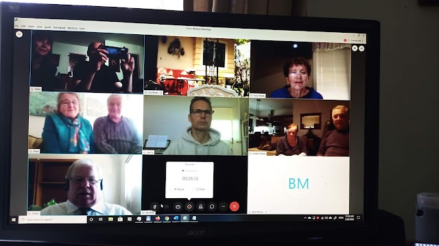 Vasárnap nemzetközi, interkontinentális, interaktív istentiszteletet tartottunk videokonferencia segítségével