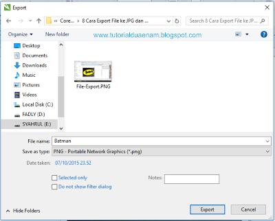 Cara Export File CorelDraw Menjadi JPG dan PNG agar Tidak