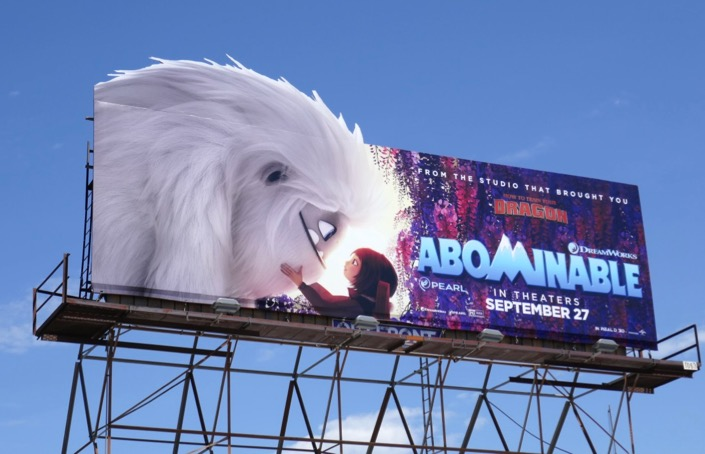 Abominable movie extension billboard