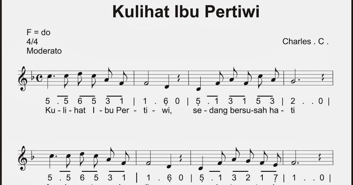 Not Angka Lagu Indonesia Pusaka Shefalitayal