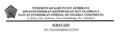 Contoh surat izin kegiatan kesharlindung dikdas
