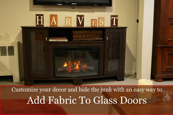 Adding fabric to glass doors
