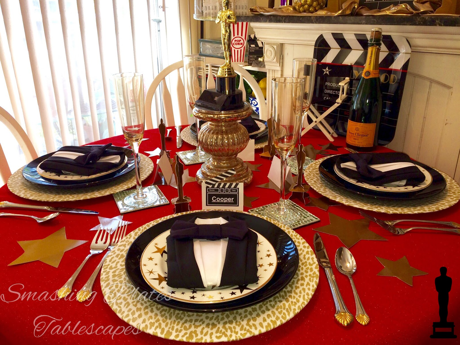 Smashing Plates Tablescapes: And the Oscar Goes To...