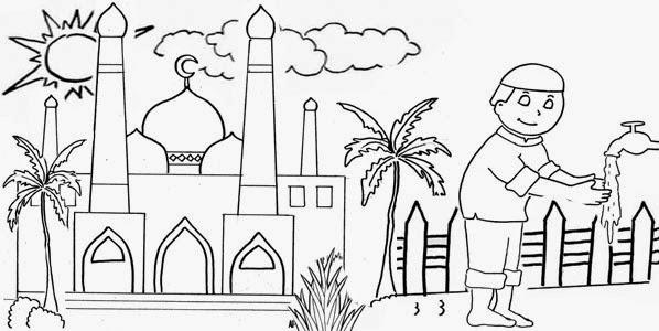 Gambar  Animasi Keren Gambar  Animasi Kartun Mesjid Untuk