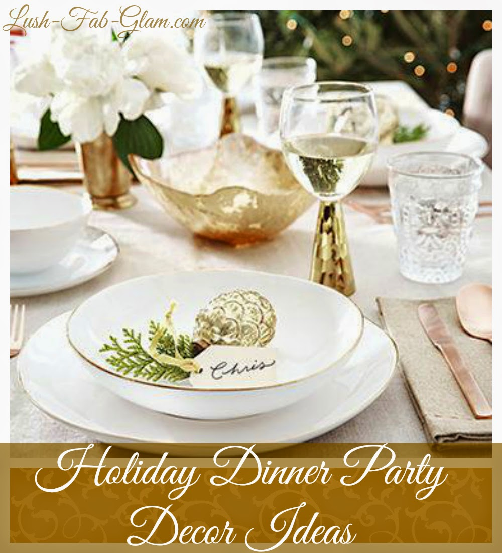 Lush fab glam blogazine holiday themed dinner party decor for Best dinner party ideas