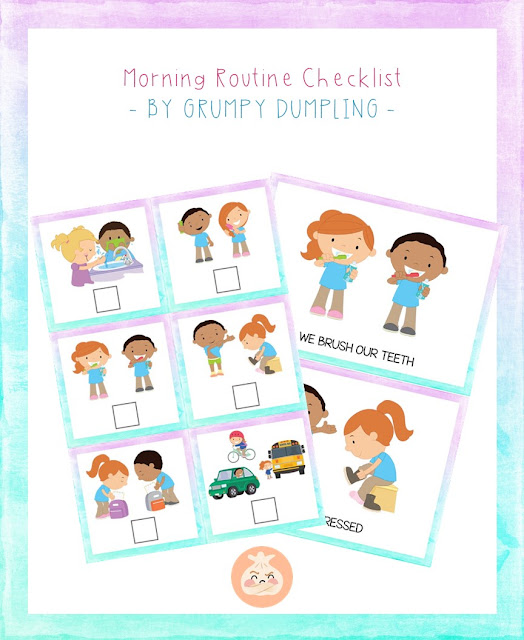 https://www.teacherspayteachers.com/Product/Morning-Routine-Checklist-3569133