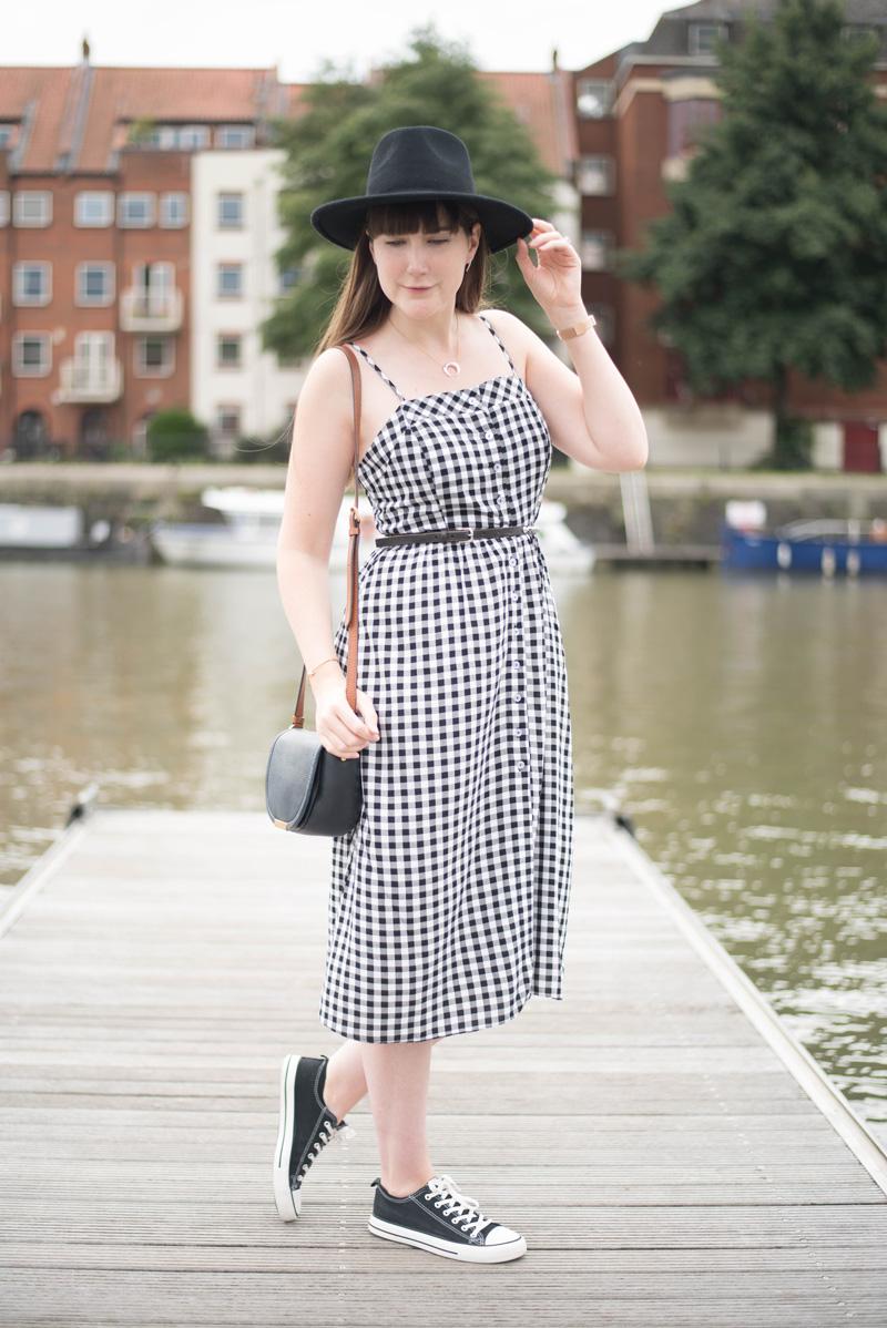 Gingham New Look Midi Dress