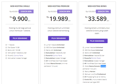 paket web hosting Hostinger