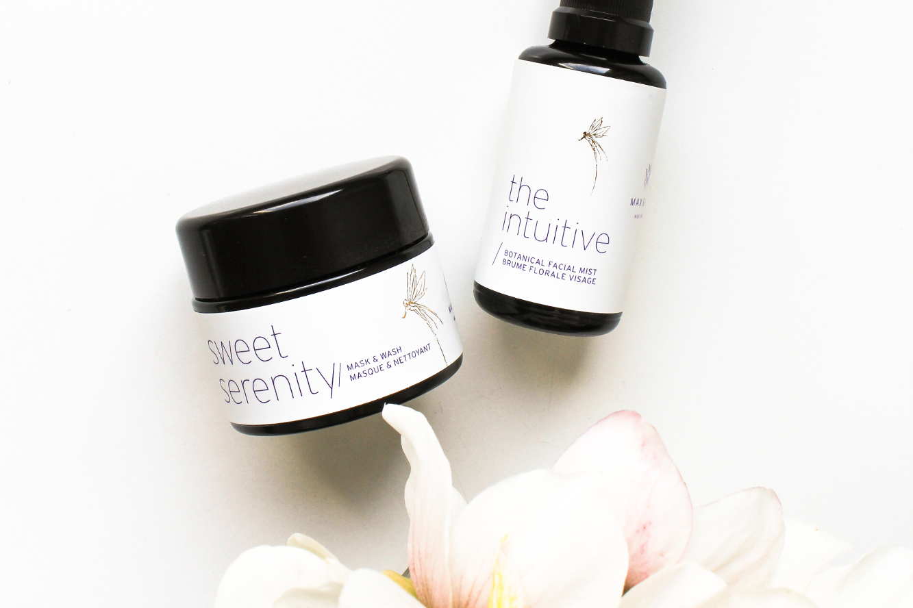 max and me the Intuitive Botanical Floral Mist, Sweet Serenity Mask & Wash. December 2018 Beauty Heroes Beauty Discovery